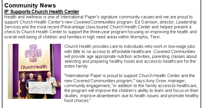 IP Supports Church Health Center